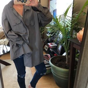 vintage oversized dickies shirt dress